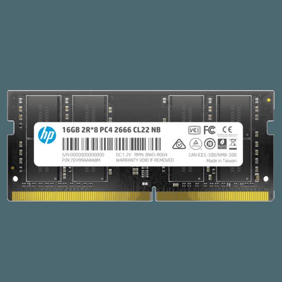 Memoria RAM DDR4 HP S1 16GB 2666MHZ para Notebook