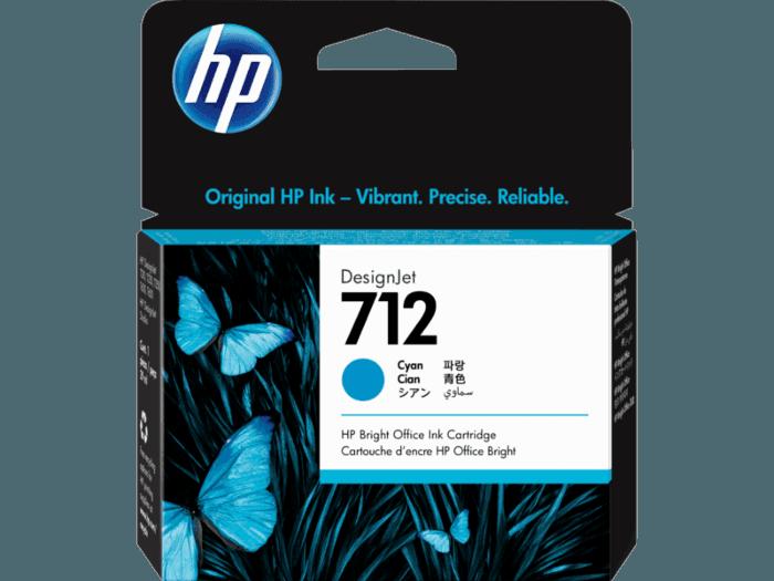 Cartucho de tinta HP DesignJet 712 de 29 ml, cian
