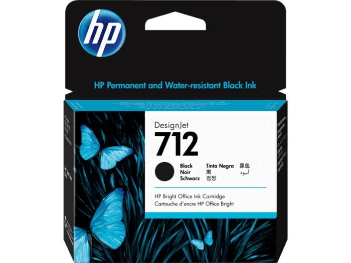 Cartucho de tinta DesignJet HP 712 de 80 ml, negro