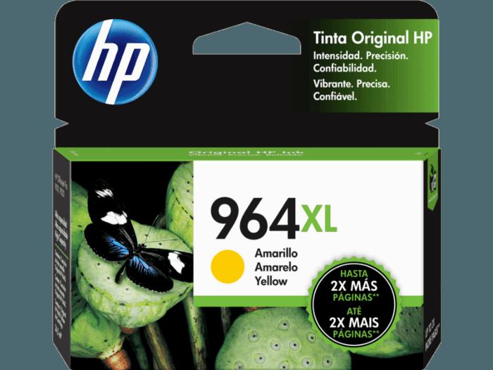 Cartucho de Tinta HP 964XL Amarillo de Alto Rendimiento Original