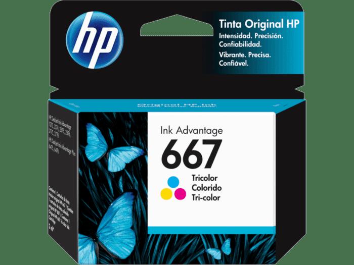 Cartucho de tinta HP Original Ink Advantage 667, tricolor