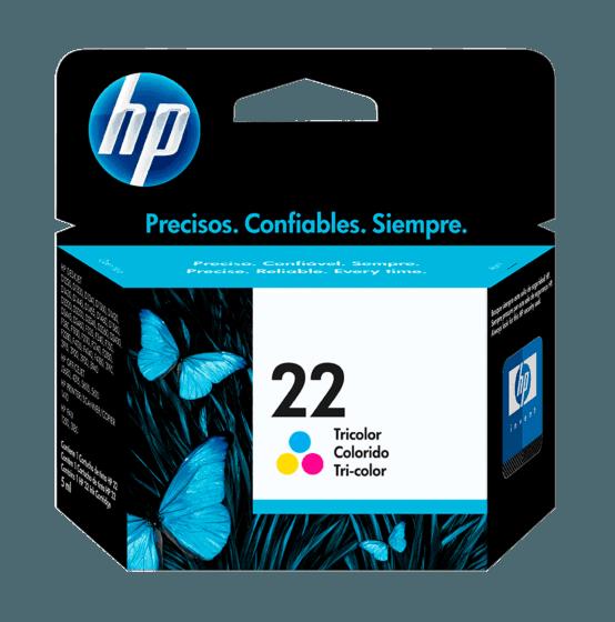 Cartucho de Tinta HP 22 Tricolor Original