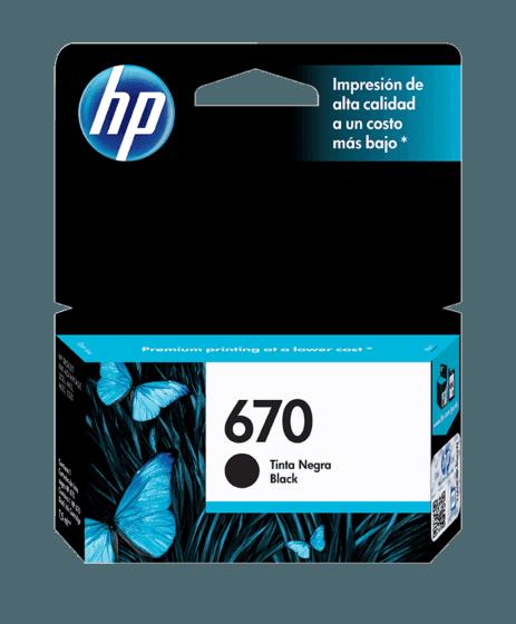 Cartucho de Tinta HP 670 Negra Original