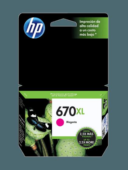 Cartucho de Tinta HP 670XL Magenta Original
