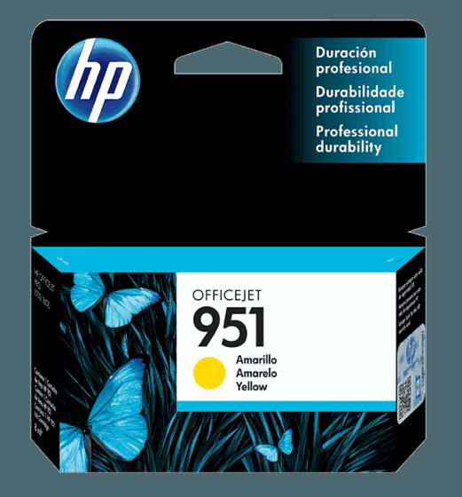Cartucho de Tinta HP 951 Amarilla Original