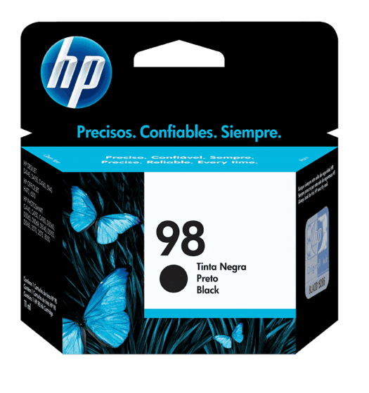 Cartucho original de tinta negra HP 98