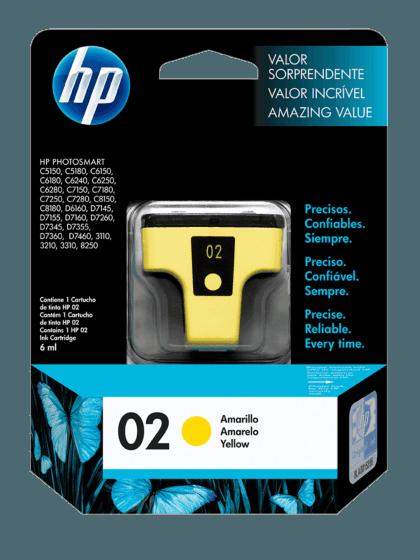 Cartucho de Tinta HP 02 Amarilla Original