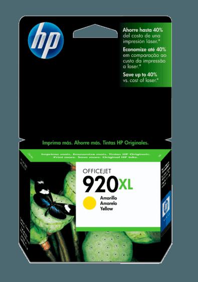 Cartucho de Tinta HP 920XL Amarilla de Alto Rendimiento Original