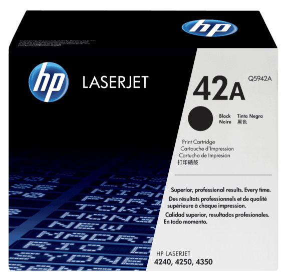 Cartucho original de tóner negro HP 42A LaserJet