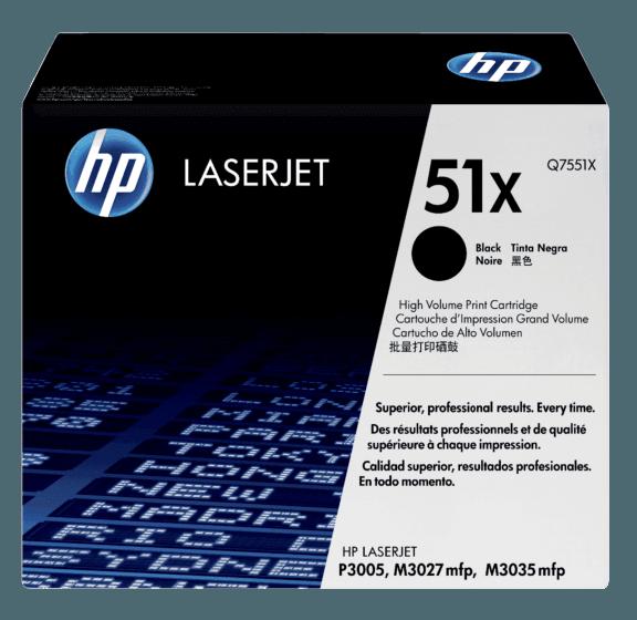 Cartucho de Tóner HP 51X Negro de Alto Rendimiento LaserJet Original