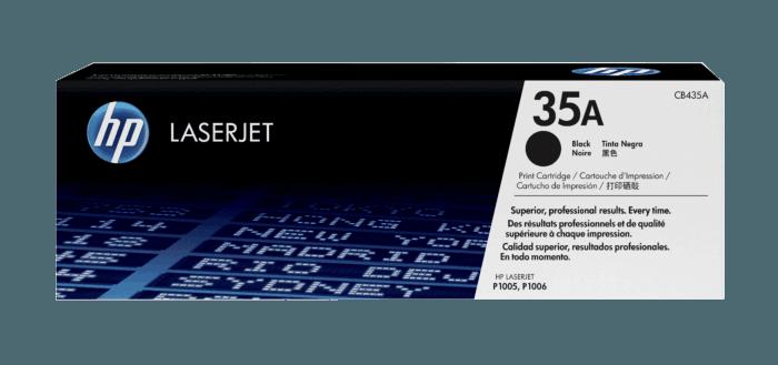 Cartucho original de tóner negro HP 35A LaserJet