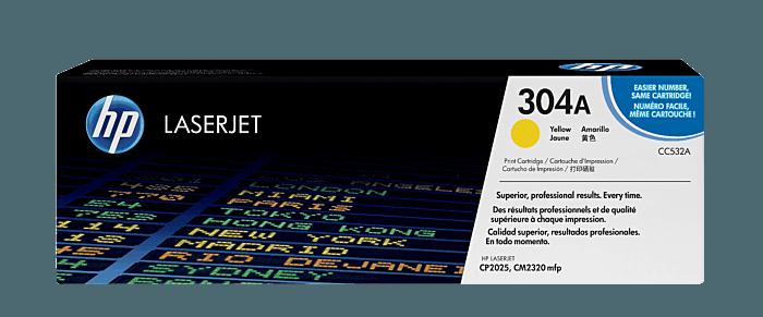 Cartucho de Tóner HP 304A Amarillo LaserJet Original