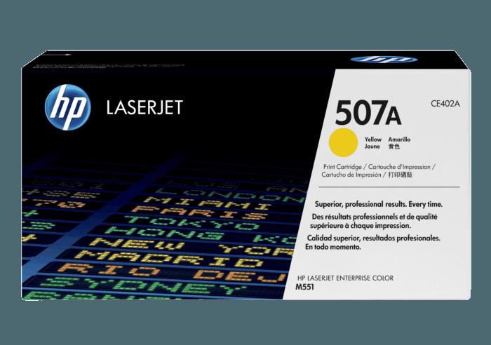Cartucho de Tóner HP 507A Amarillo LaserJet Original