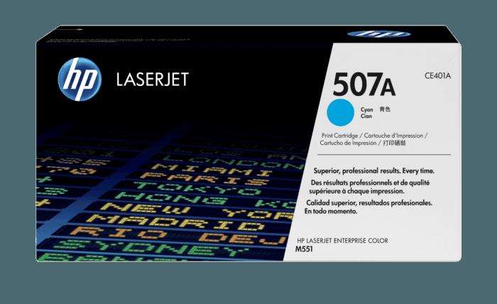 Cartucho de Tóner HP 507A Cian LaserJet Original