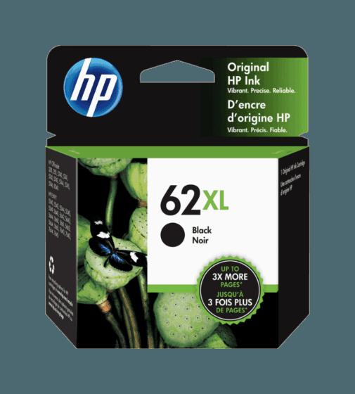 Cartucho de Tinta HP 62XL Negro de Alta Capacidad Original