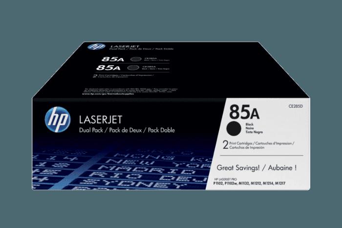 Paquete de 2 Cartuchos de Tóner HP 85A Negro Laserjet Originales