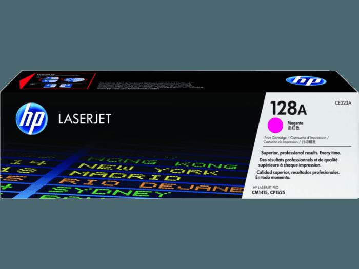 Cartucho original de tóner magenta HP 128A LaserJet