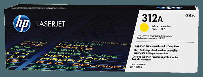 Cartucho de tóner original HP 312A LaserJet amarillo
