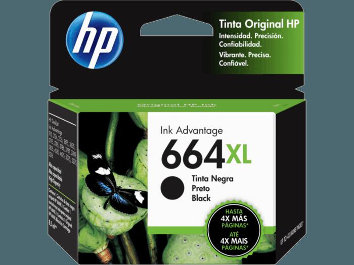 Cartucho de Tinta HP 664XL Negra Original
