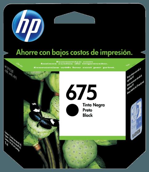 Cartucho de Tinta HP 675 Negra Original