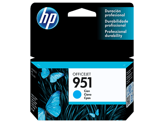Cartucho de Tinta HP 951 Cian Original