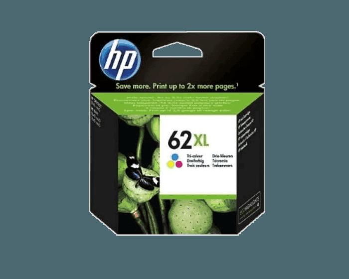 Cartucho de Tinta HP 62XL Tricolor de Alta Capacidad Original