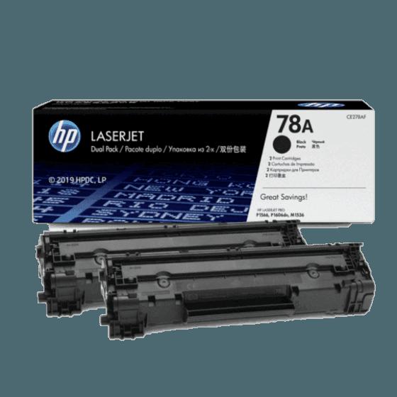 Paquete de 2 Cartuchos de Tóner HP 78A Negro LaserJet  Original