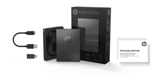 Unidad de Estado Sólido HP Portable P700 SSD-512G USB-C 1000mb/s